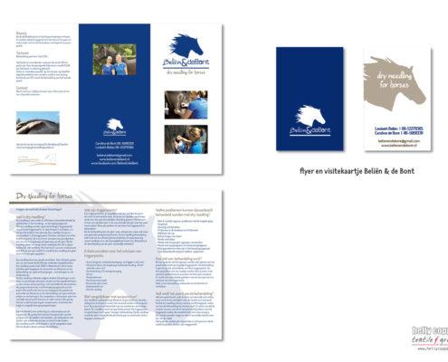 promotie flyer en business card
